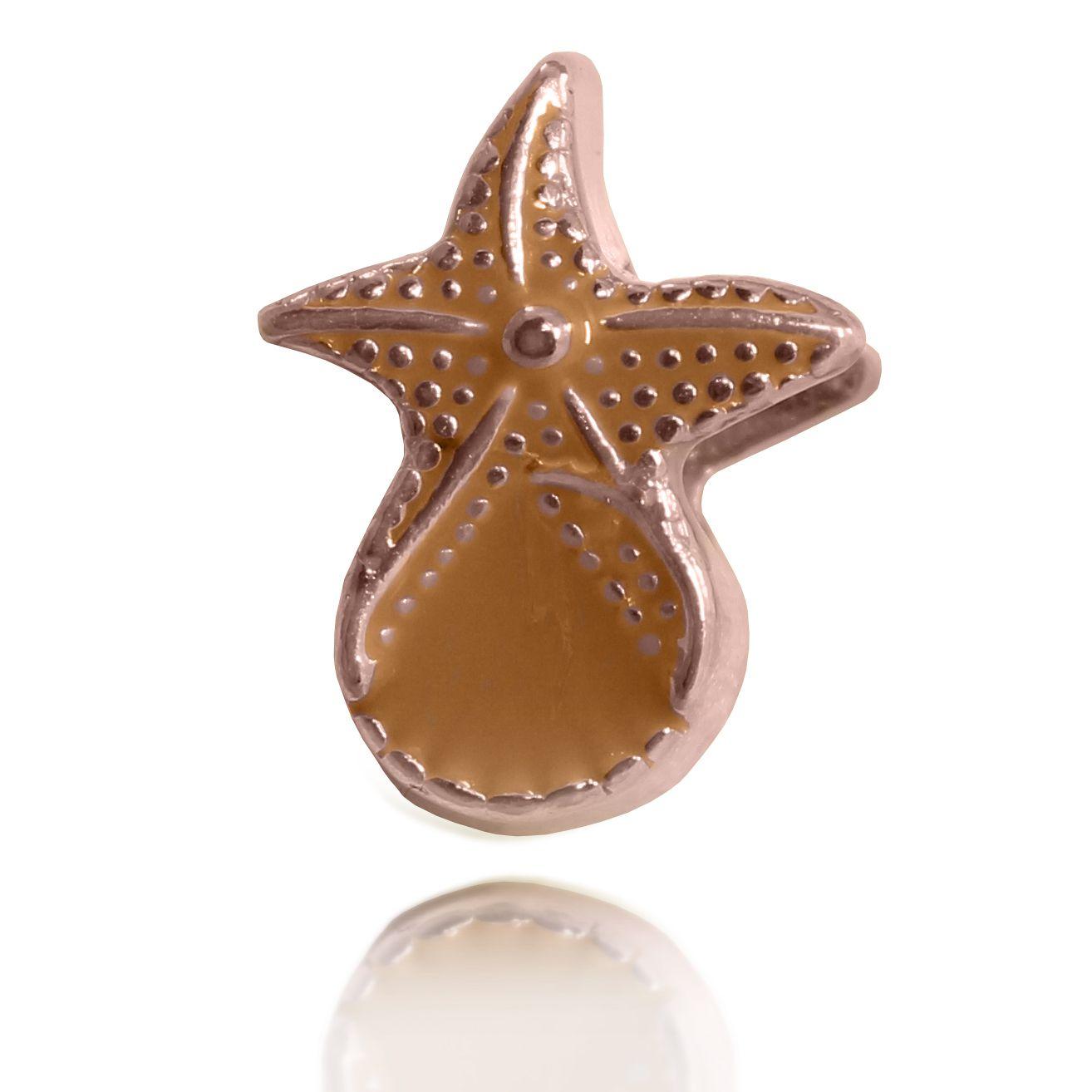 Pingente Berloque Estrela Marinha Folheado a Ouro Rosé