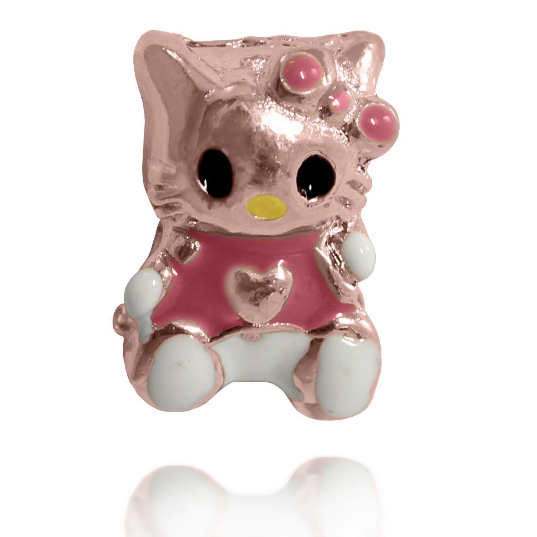 Pingente Berloque Kitty Folheado a Ouro Rosé