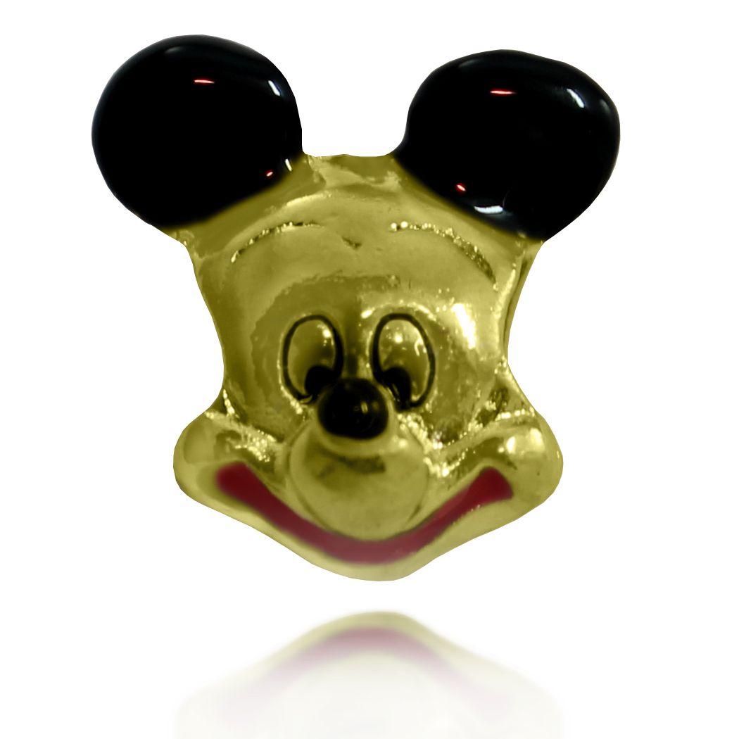Pingente Berloque Mickey Folheado a Ouro 18k