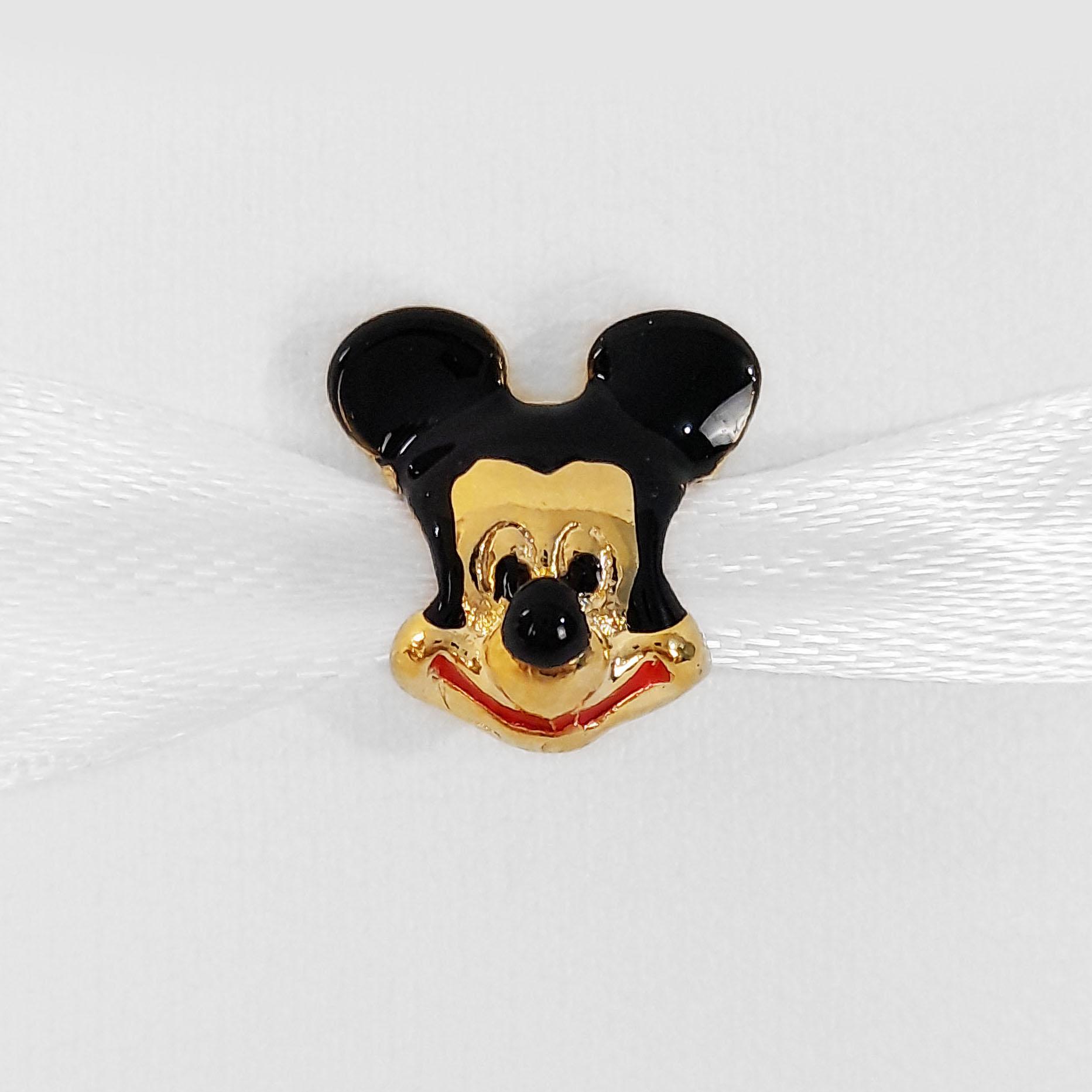 Pingente Berloque Mickey Folheado a Ouro 18k  - Lunozê Joias