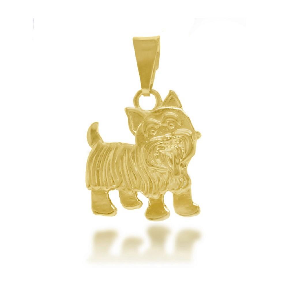 fcb984ca396d7 Pingente Cachorro Yorkshire Folheado a Ouro 18k - Lunozê Joias