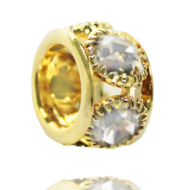 Pingente Five Crystal Folheado Ouro 18k