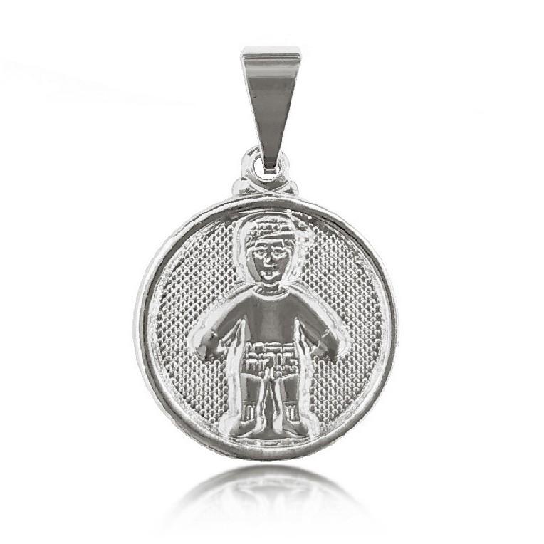 Pingente Medalha 1 Menino Folheado a Prata 1000  - Lunozê Joias