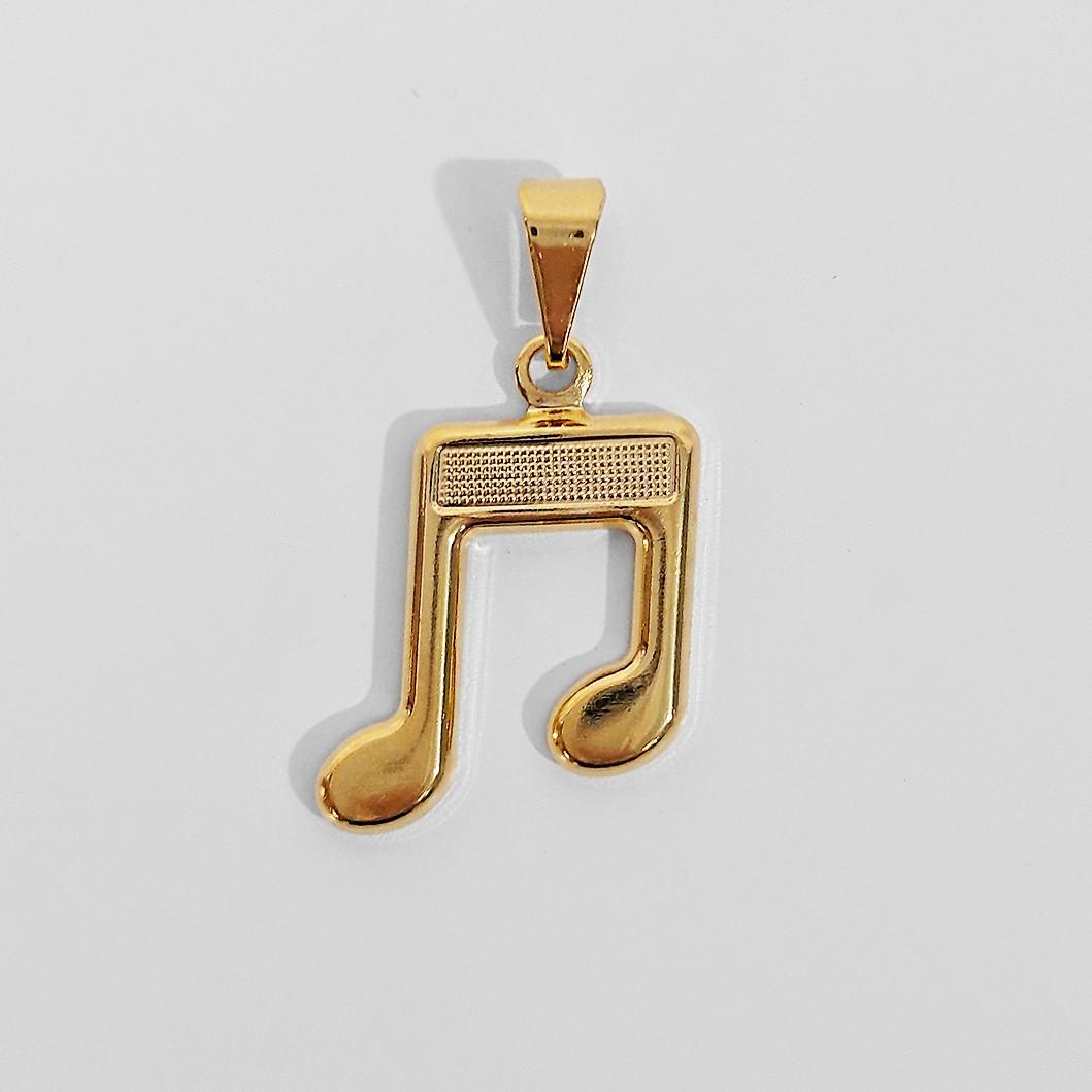 Pingente Nota Musical Folheado a Ouro 18K  - Lunozê Joias