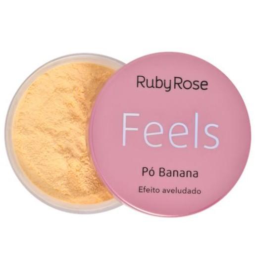 Pó Banana Feels Ruby Rose  - Lunozê Joias