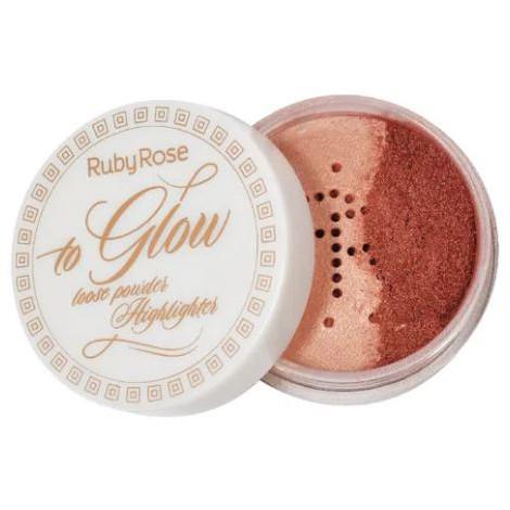 Pó Iluminador To Glow Ruby Rose  - Lunozê Joias