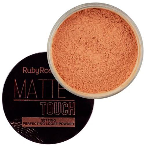 Pó solto Matte Touch Ruby Rose  - Lunozê Joias
