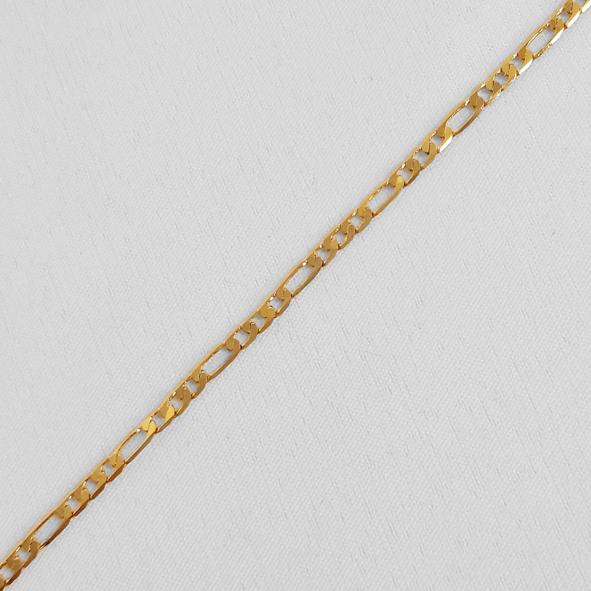 Pulseira Masculina 3x1 2,5mm Folheado a Ouro 18k  - Lunozê Joias