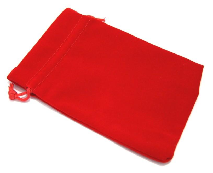 Saco de Veludo Vermelho