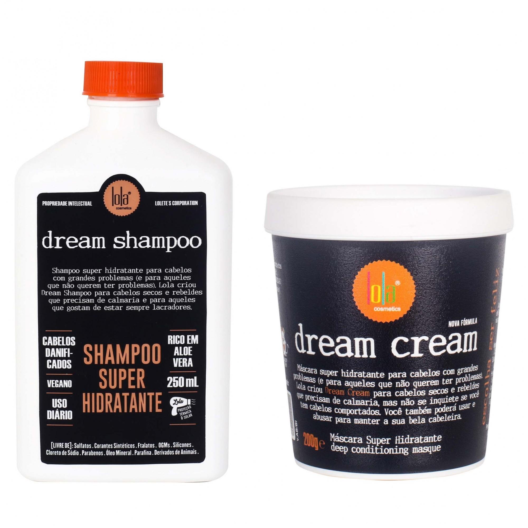 Shampoo 250ml + Máscara 200g Dream Cream Lola Cosmetics