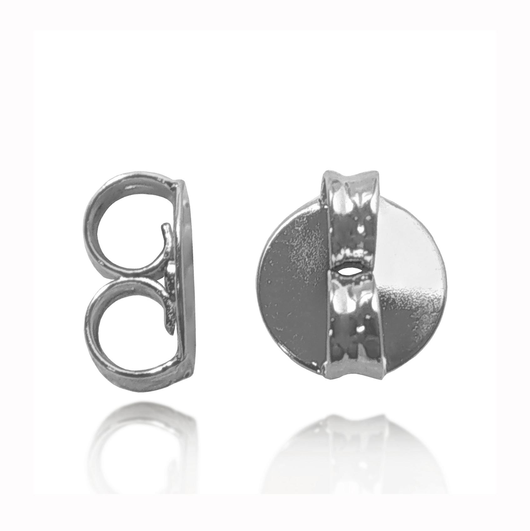 Tarraxa Média 0,6 mm Folheada a Prata 1000  - Lunozê Joias