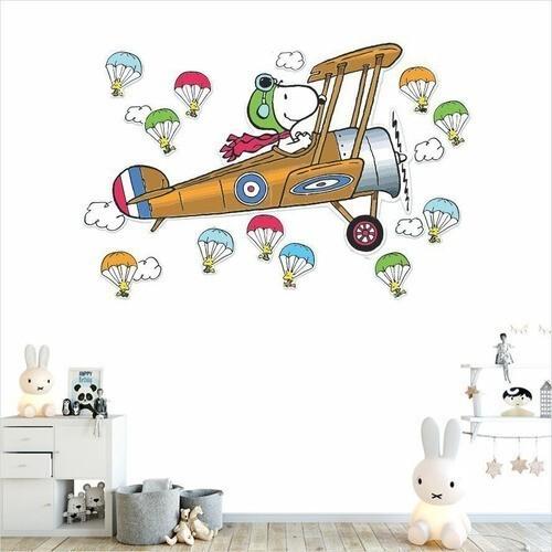 Adesivo de parede Infantil Snoopy Desenho Decoração Quarto