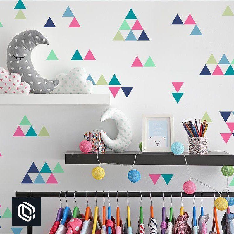 Adesivo infantil de Parede Triângulos Coloridos decoração