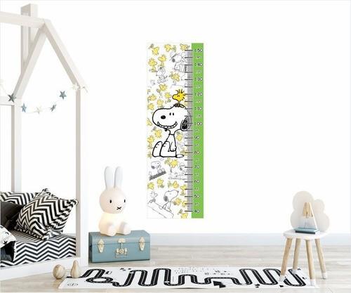 Adesivo Infantil Régua Crescimento Medidora Snoopy