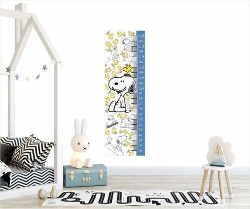 Adesivo Infantil Régua Crescimento Snoopy Menino