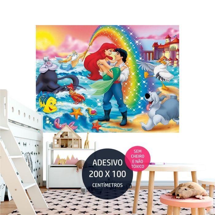 adesivo parede a pequena sereia peq0 quarto festa infantil AP0176