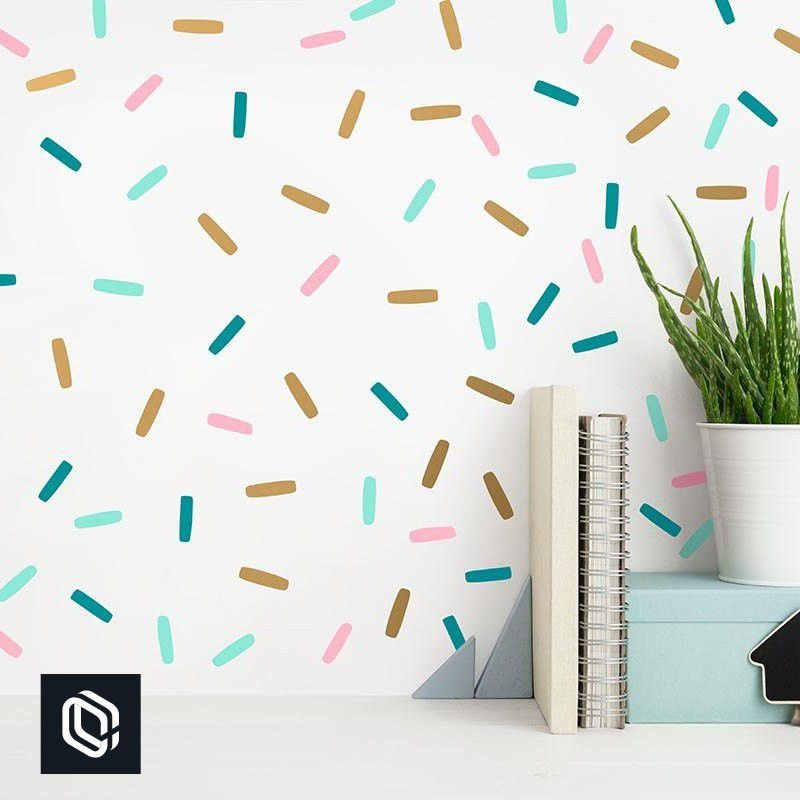 Adesivo Parede Confetes Granulados Coloridos 200unds