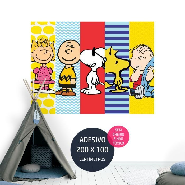 adesivo parede infantil snoopy 15 decoracao AP1003
