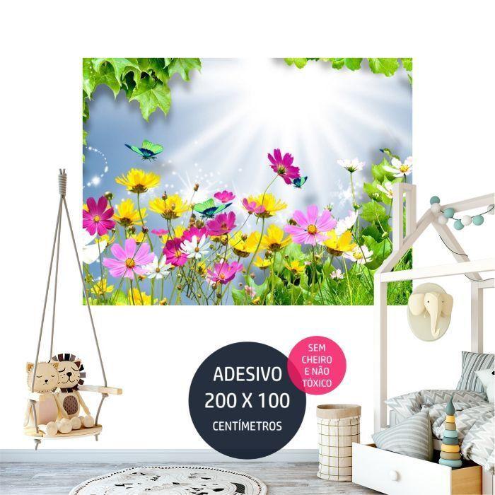 adesivo parede jardim 5 decoracao AP1032