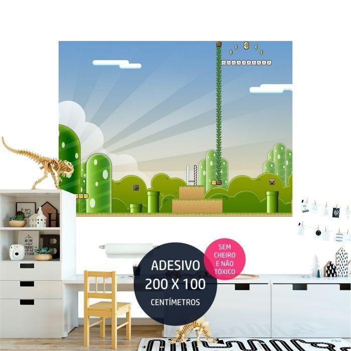 adesivo parede mario bross quarto infantil AP1141