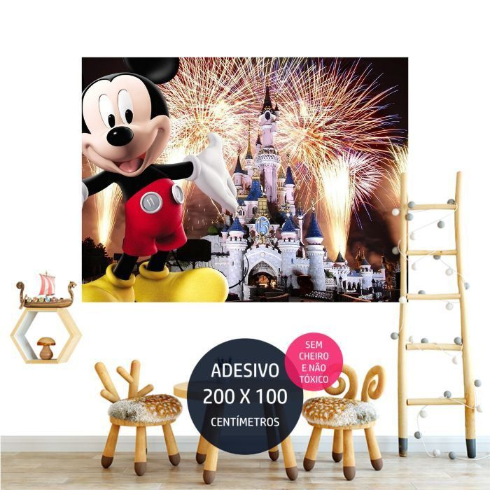 adesivo parede mickey 11 festa personalizada AP1165