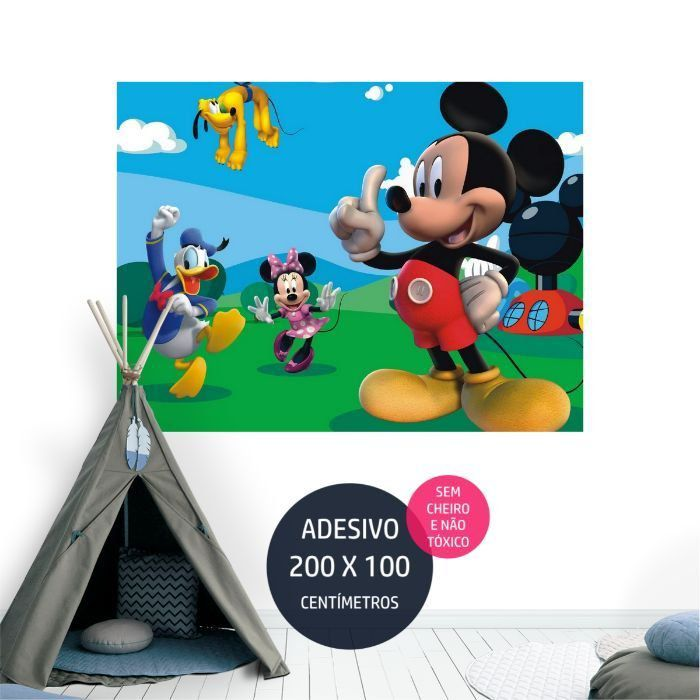 adesivo parede mickey painel em AP1198