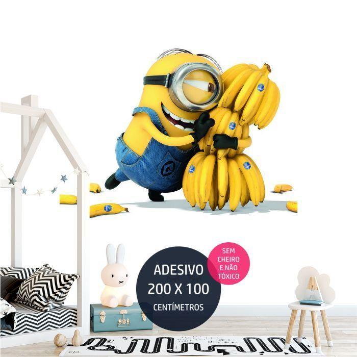 adesivo parede minions minions02 tema de festa infantil AP1355