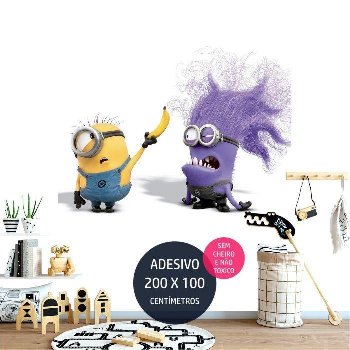 adesivo parede minions minions0 festa de crianca AP1366