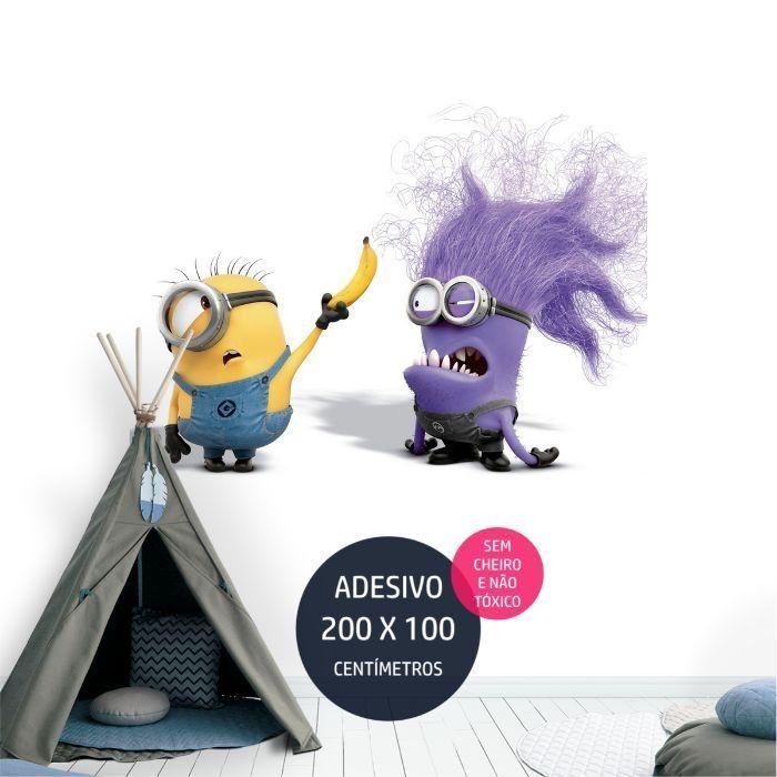 adesivo parede minions minions0 festa de crianca AP1367