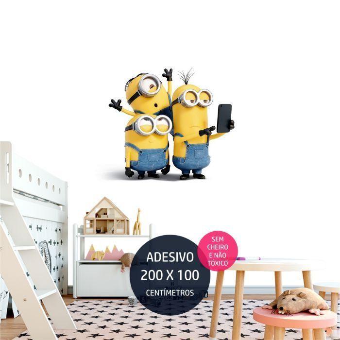 adesivo parede minions minions17 decoracao de festa infantil AP1378