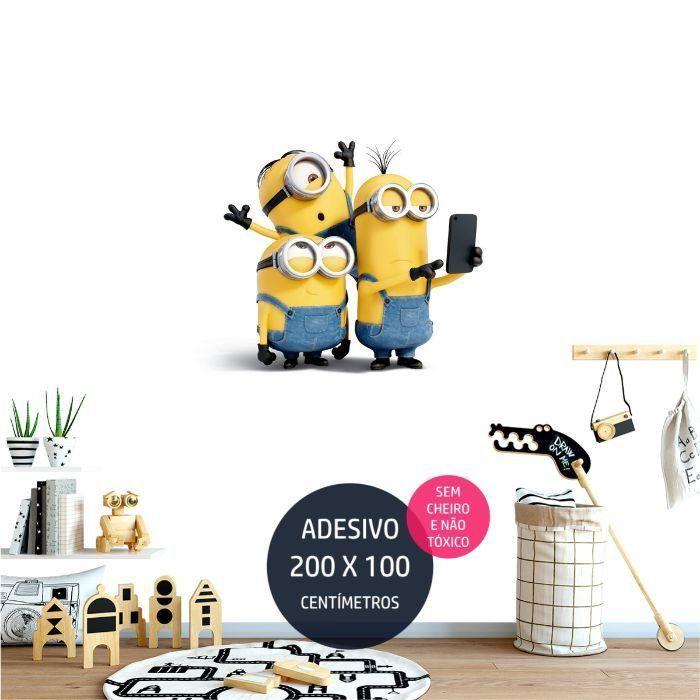 adesivo parede minions minions17 decoracao de festa infantil AP1379