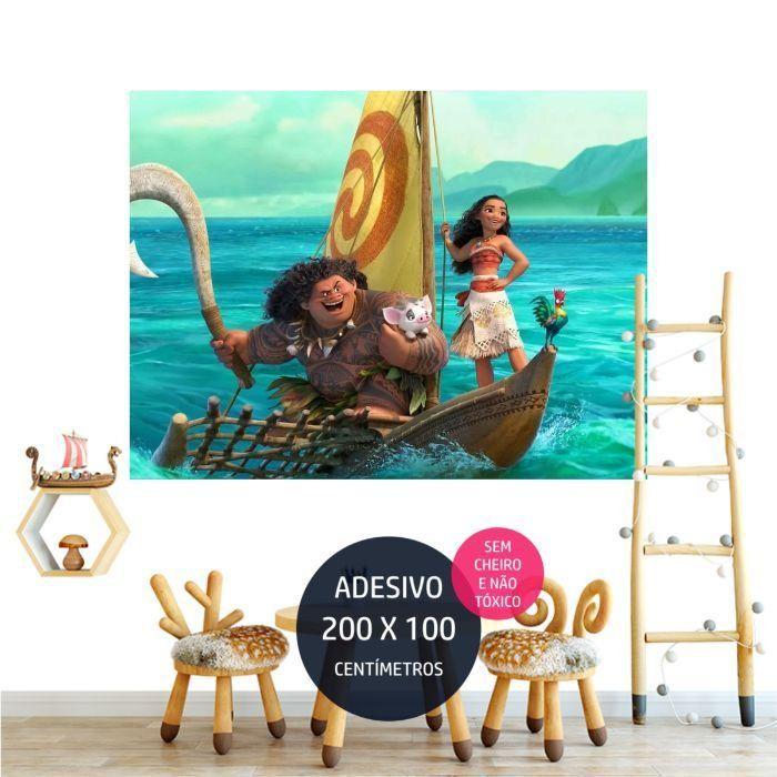 adesivo parede moana festa infantil personalizada AP1425