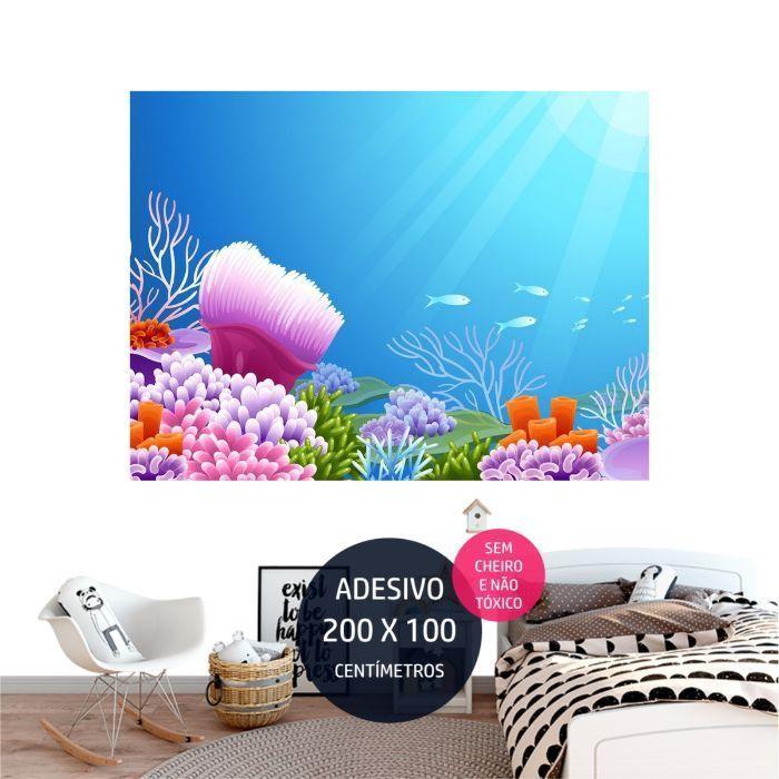 adesivo parede oceano 3 festa personalizada AP1504