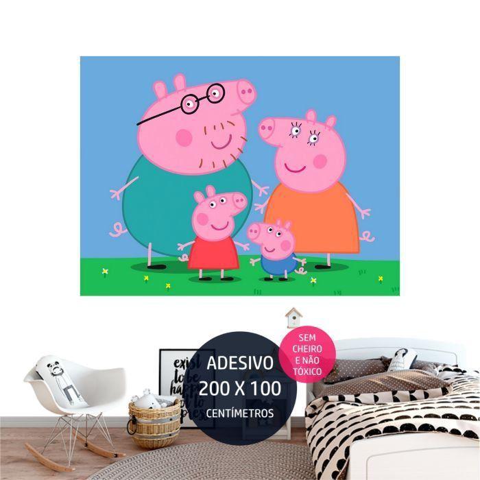 adesivo parede peppa pig peppa04 festa de crianca AP1647
