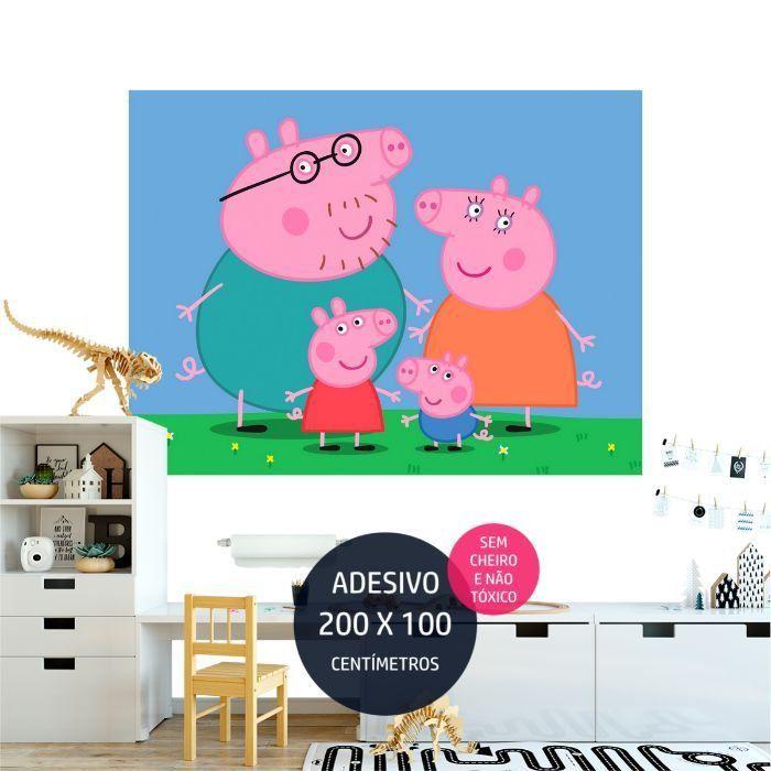 adesivo parede peppa pig peppa04 festa de crianca AP1648