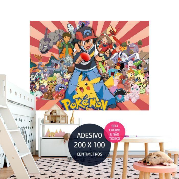adesivo parede pokemon decoracao de aniversario AP1651