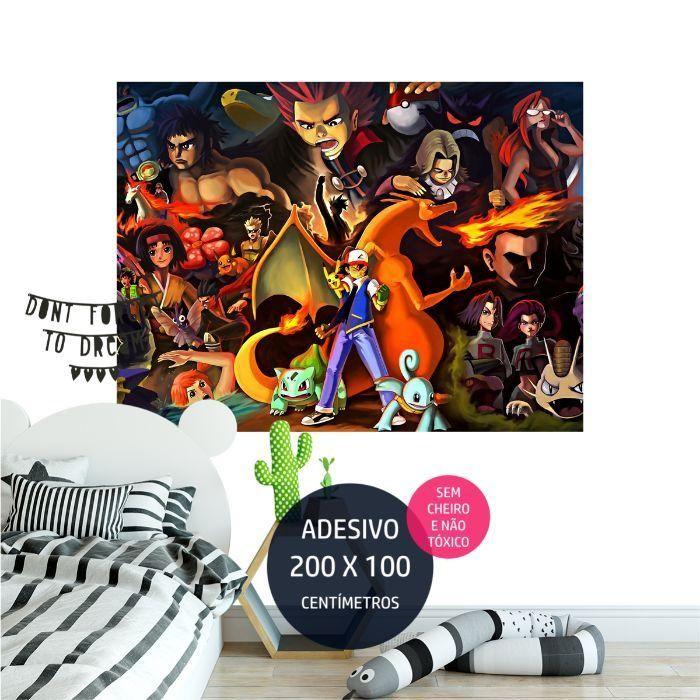 adesivo parede pokemon festa infantil tematica AP1662