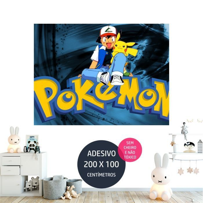 adesivo parede pokemon festa infantil tematica AP1663