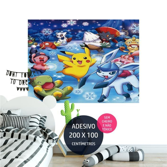 adesivo parede pokemon painel de aniversario AP1675