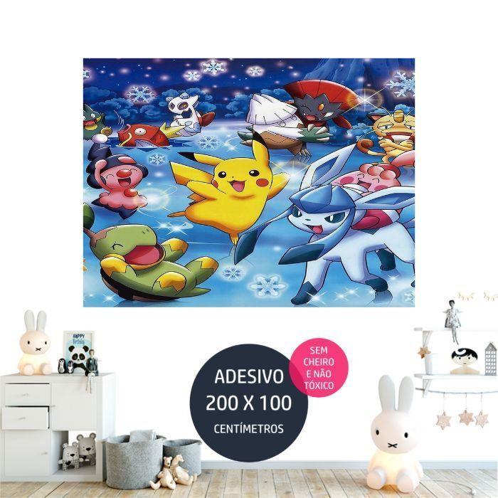 adesivo parede pokemon painel de aniversario AP1676