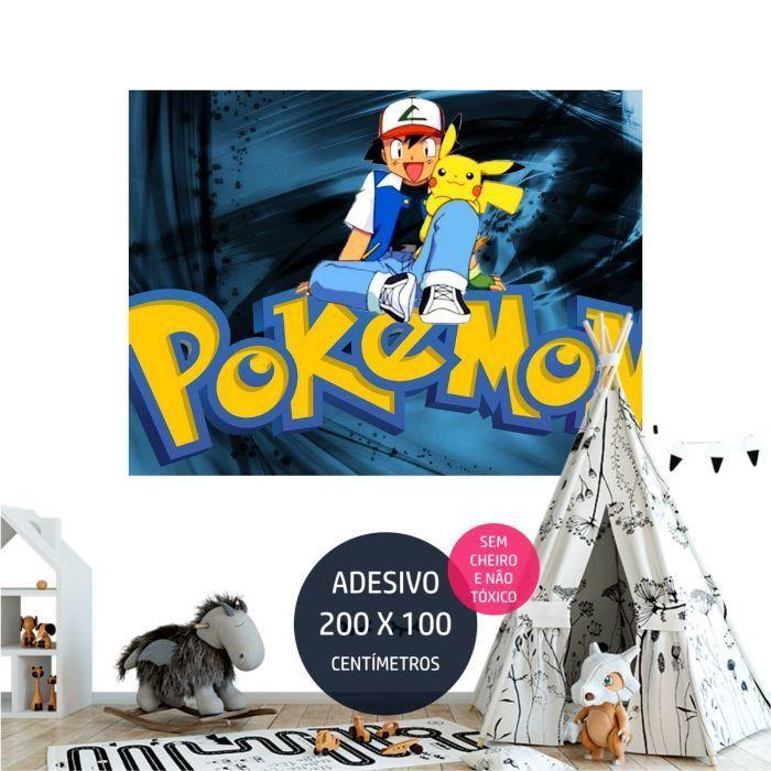 adesivo parede pokemon personalizado AP1681