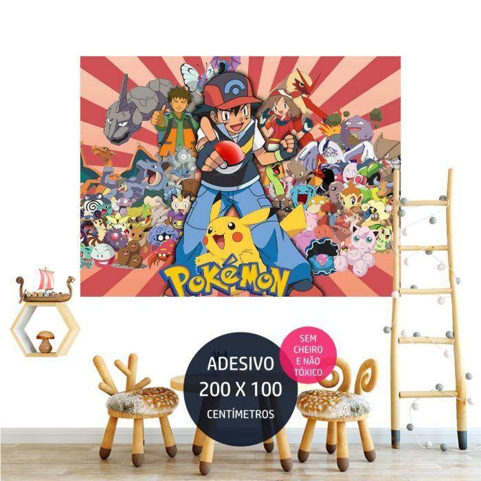 adesivo parede pokemon personalizados AP1685