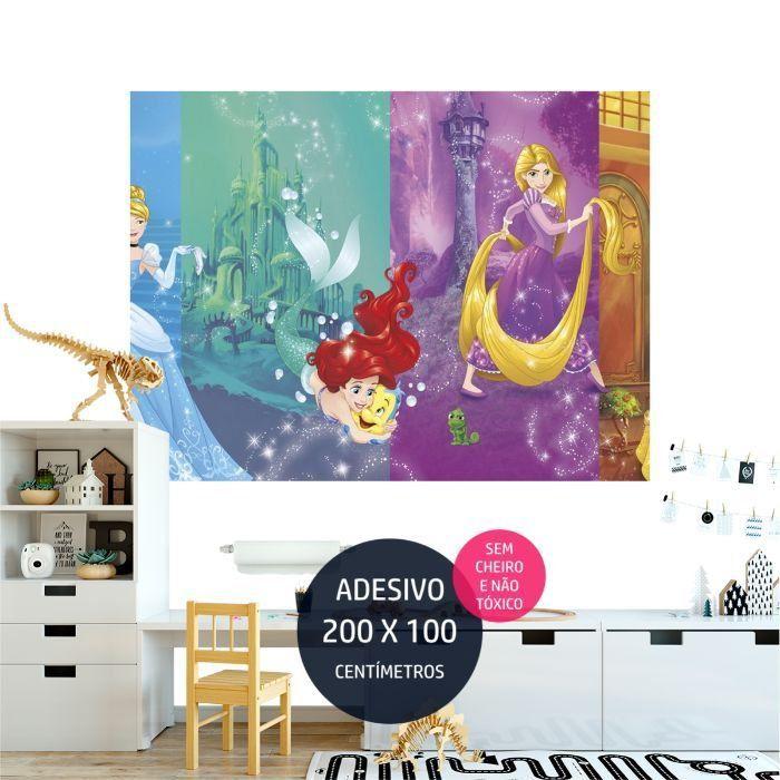 adesivo parede princesas disney 10 festa personalizada AP1713