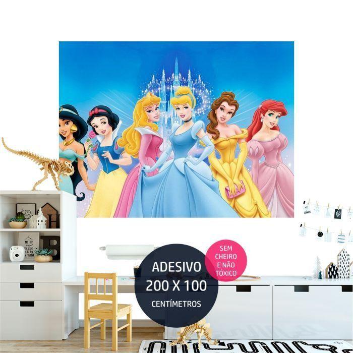 adesivo parede princesas disney 7 festa infantil AP1726
