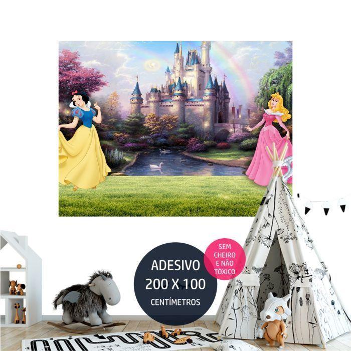 adesivo parede princesas disney painel em AP1733