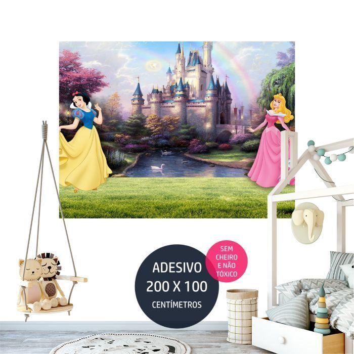 adesivo parede princesas disney painel em AP1734