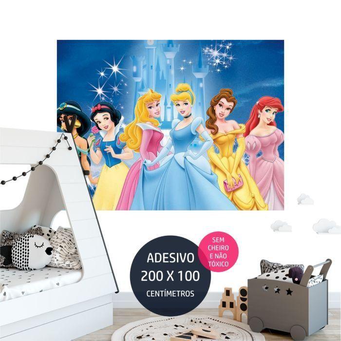 adesivo parede princesas disney princesas disney AP1736