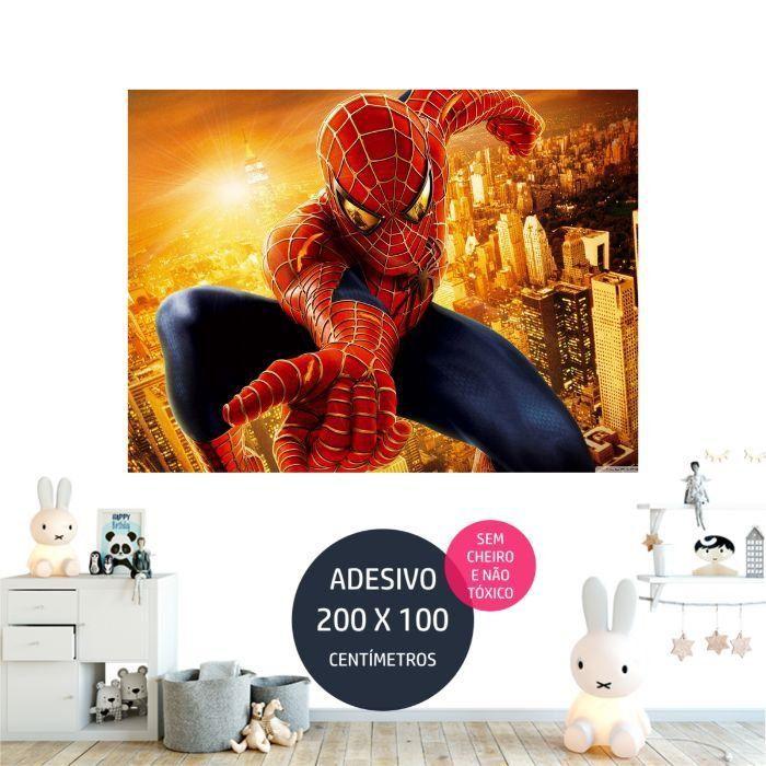 adesivo parede spiderman festa tematica AP1793