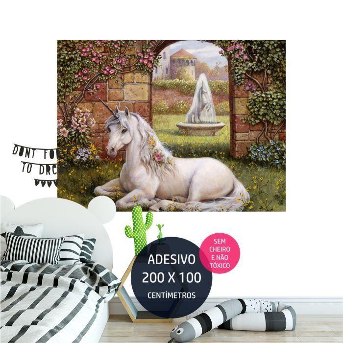 adesivo parede unicornio 2 unicornio AP1870