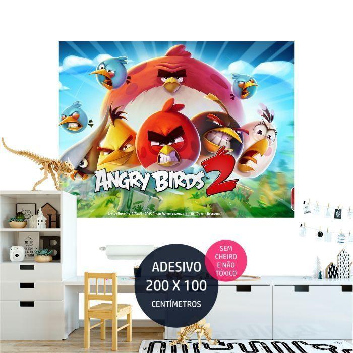 angrybirds adesivo parede aniversario AP1986
